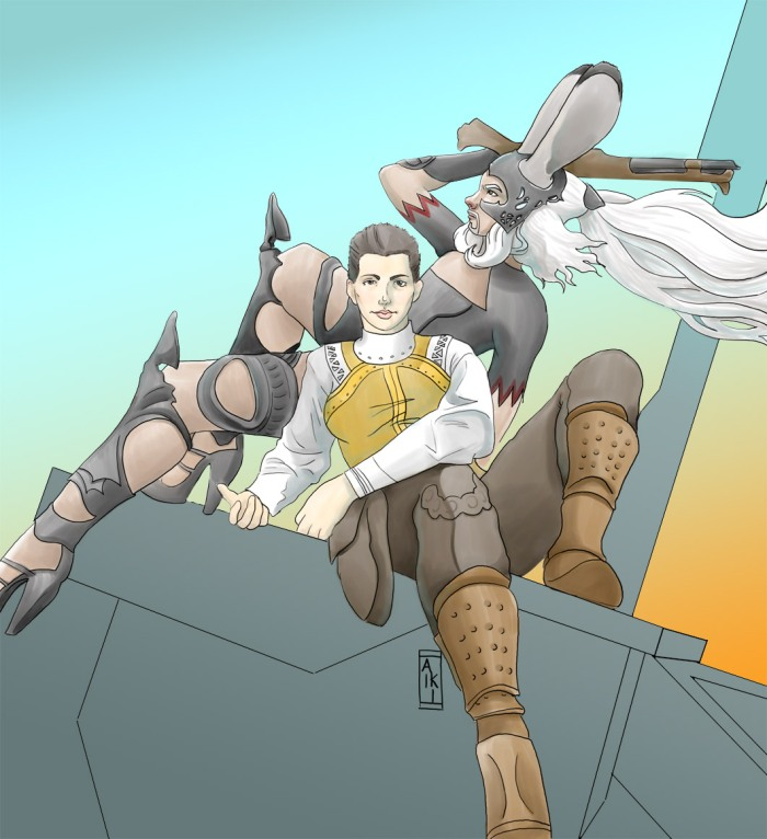 Fran & Balthier - gender-swapped