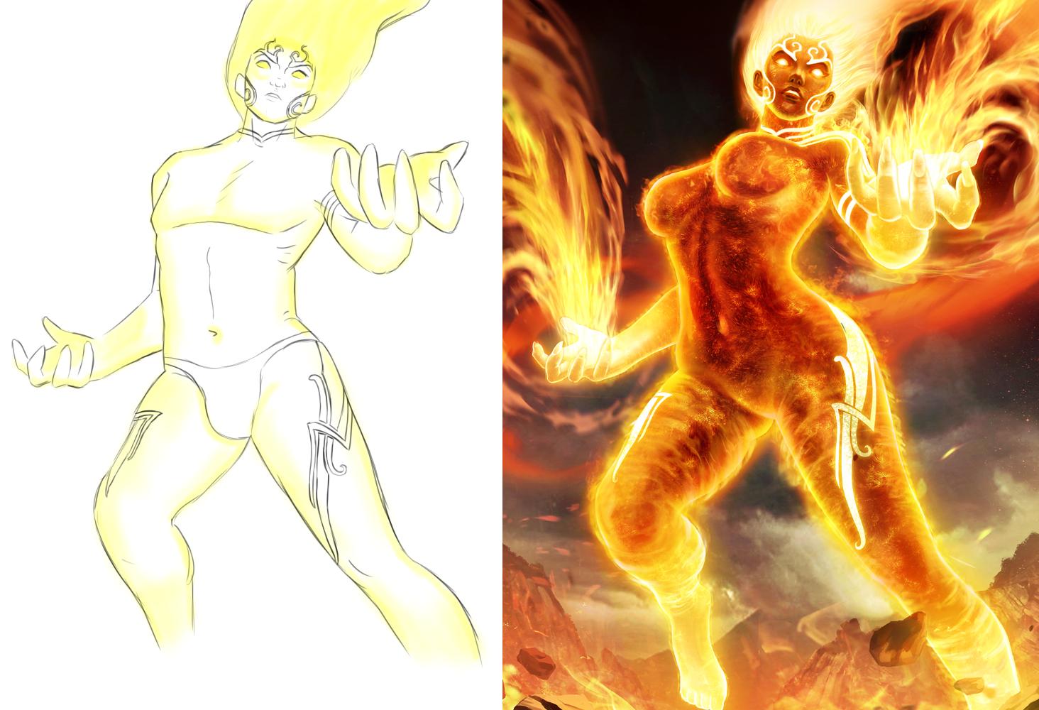 Human torch naked